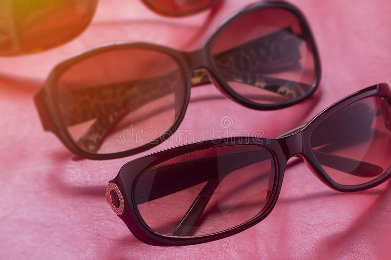 Sunglass shop with many choices of lenses and glasses in different styles of craftmanship. royalty free stock images