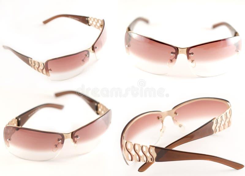 Sunglasses. Variations; foreshortening, isolated on white stock photos