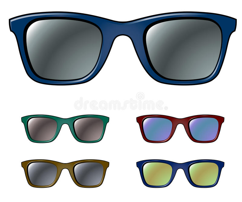 Download Sunglasses stock vector. Image of male, lens, black, glamour - 14821544