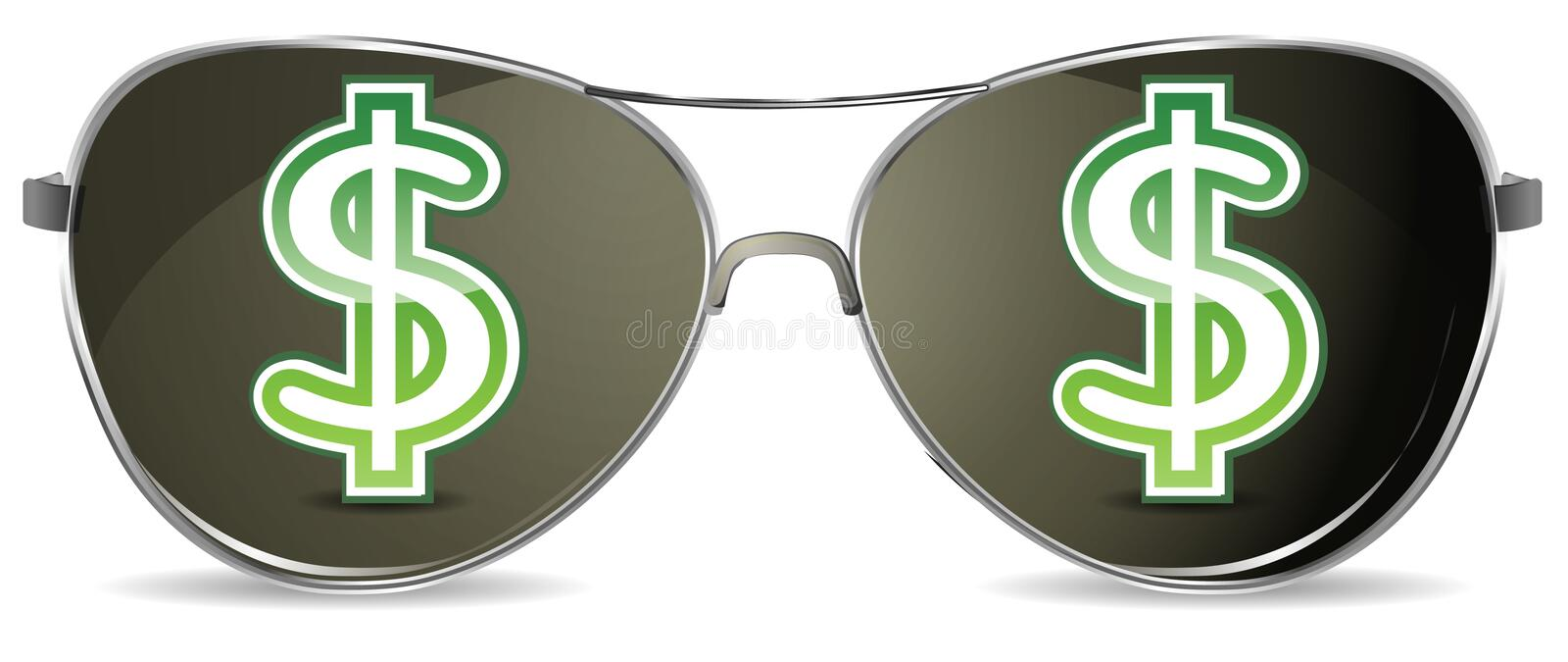 Download Sunglasses stock vector. Image of earn, background, currency - 20963611