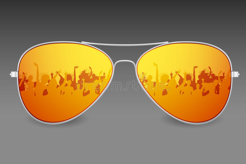 Download Sunglasses stock vector. Image of aviator, accessories - 24482179