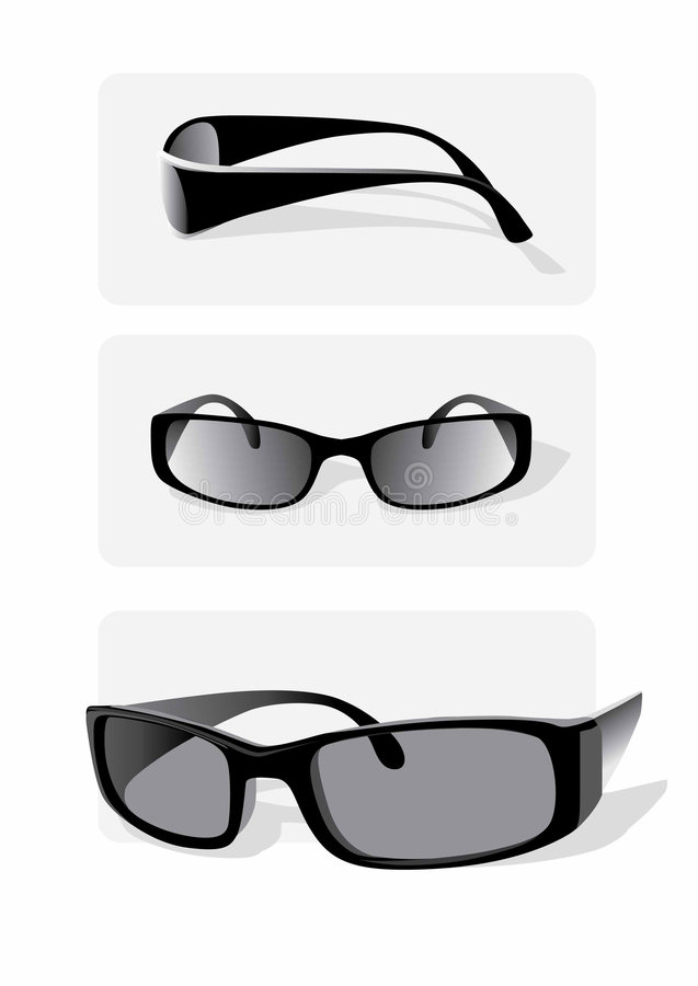 Download Sunglasses stock vector. Image of greyscale, lens, sunlight - 5190846