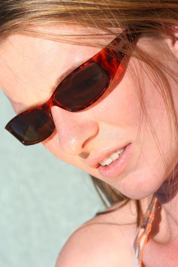Sunglasses. Woman wearing sunglasses stock photos