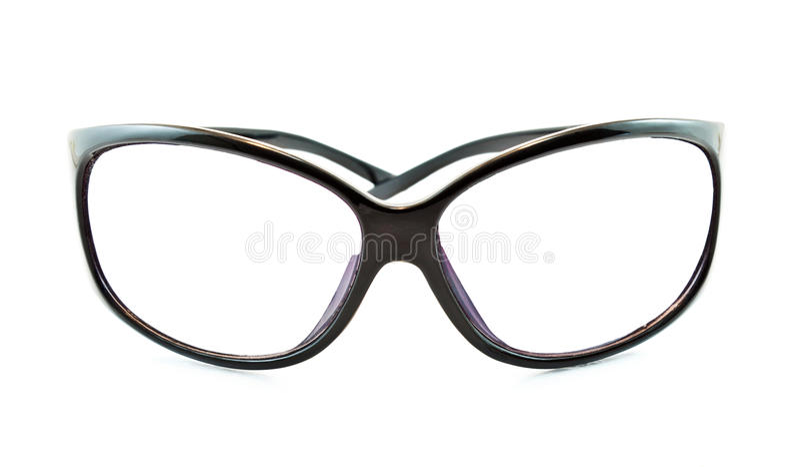 Sunglasses. Black Sunglasses on white background royalty free stock photography
