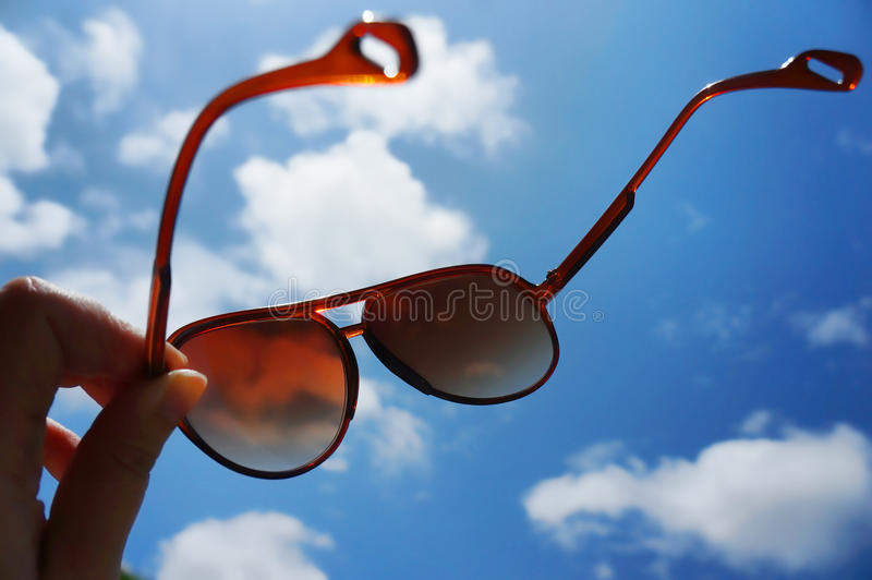 Sunglasses With Blue Sky Royalty Free Stock Images