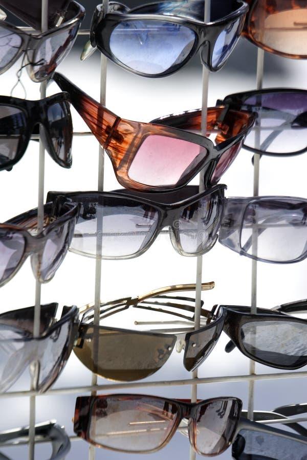 Sunglasses on display stock photo