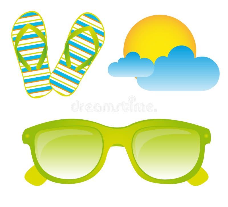 Download Sunglasses, Flip Flops, Vector Stock Vector - Image: 22043166