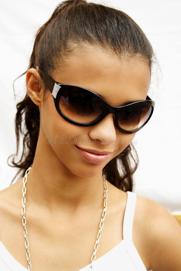 Sunglasses girl royalty free stock images