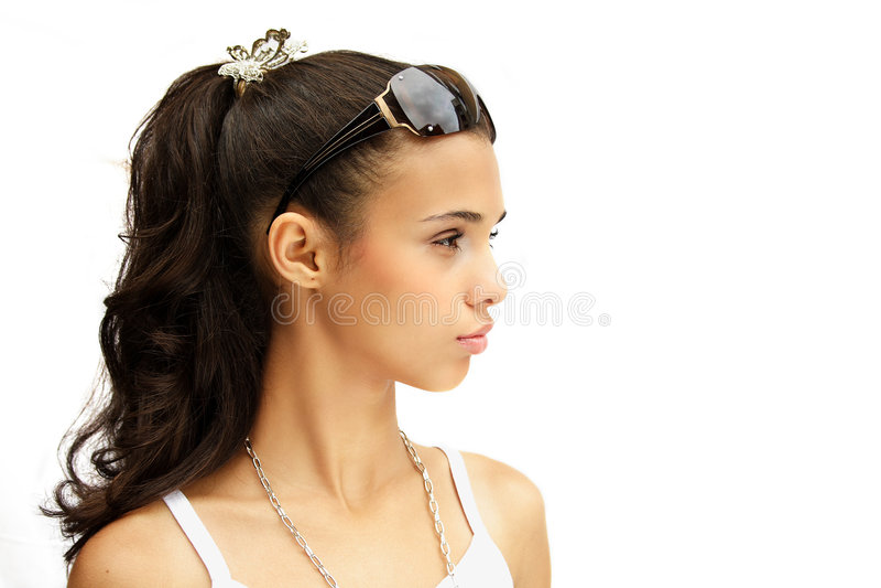 Sunglasses girl stock image