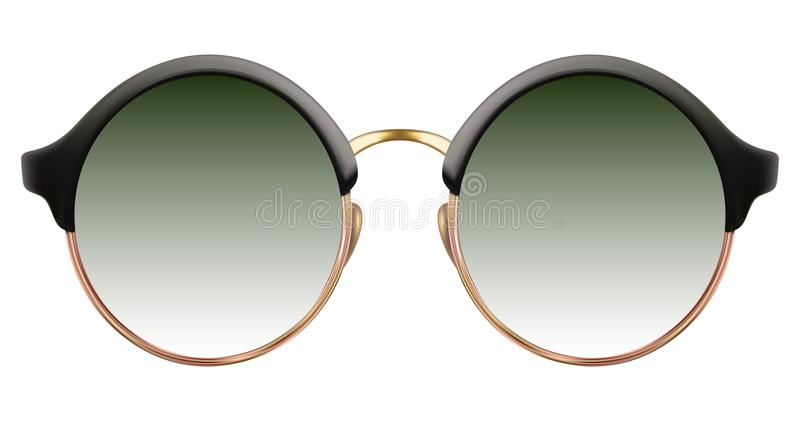 Download Sunglasses With Green Lens And Gold Metalic Frame Stock Vector - Illustration of clubbing, holiday: 109010660