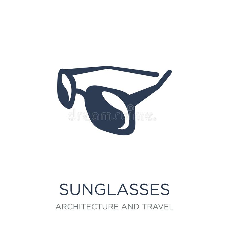 Sunglasses icon. Trendy flat vector Sunglasses icon on white background from Architecture and Travel collection. Vector illustration can be use for web and vector illustration