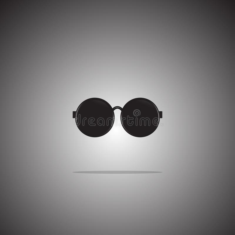 Sunglasses icon flat style on gradient background. Vector. Illustration. royalty free illustration