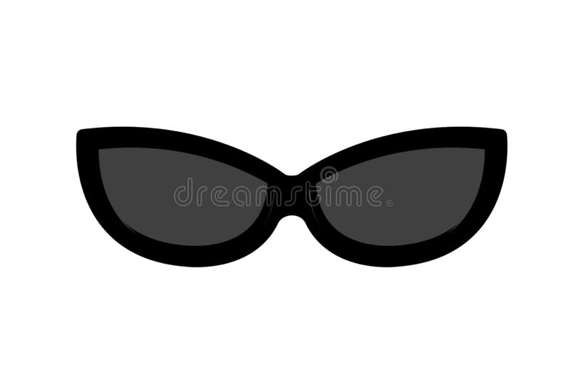 Sunglasses icon on white background. Sunglasses icon white background summer sign flat symbol object creation protection face lens graphic simple modern  retro stock photo