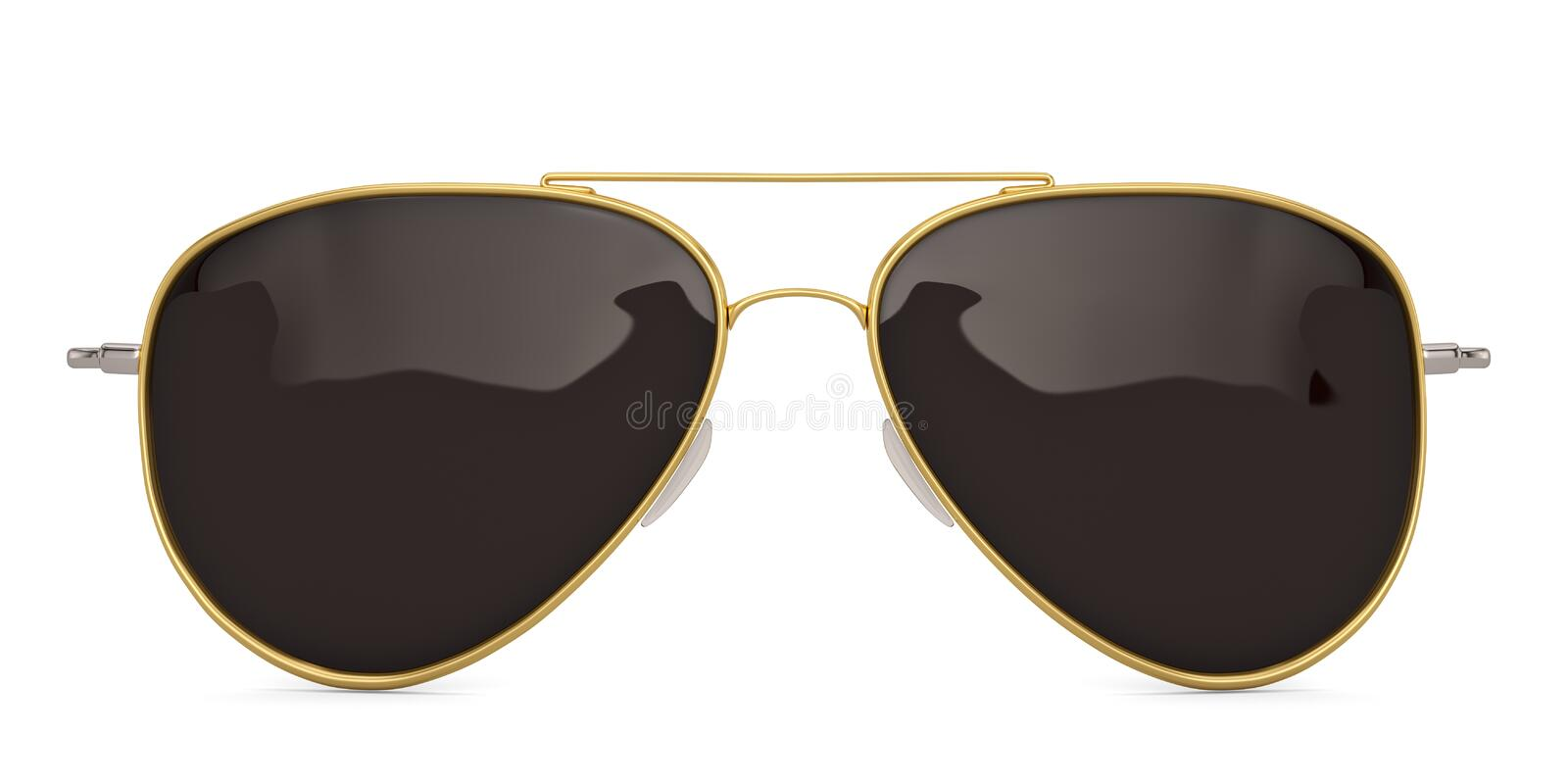 Sunglasses isolated on white background 3D illustration. Sunglasses isolated on white background 3D illustration royalty free illustration
