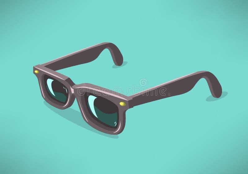 Sunglasses On modelo clásico un fondo sólido Gráficos de vector ilustración del vector
