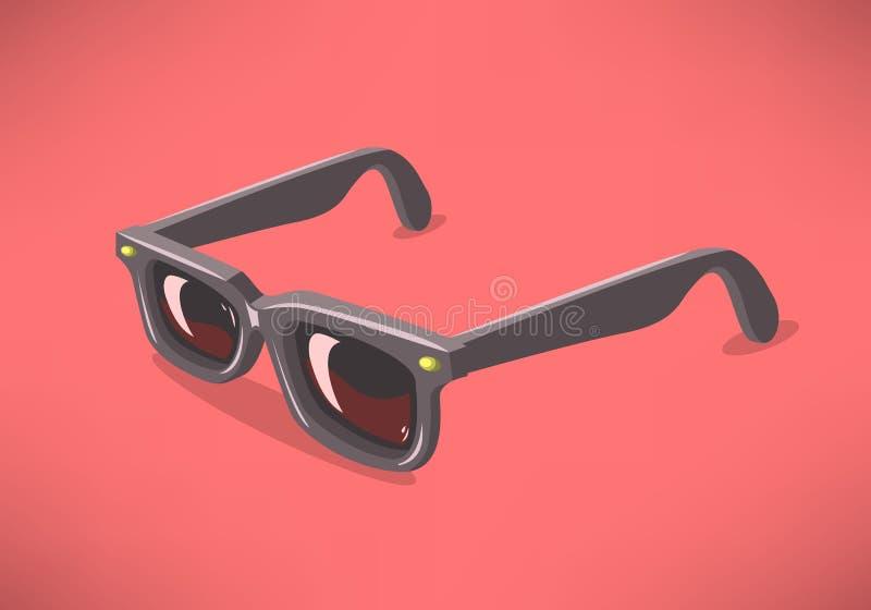 Sunglasses On modelo clásico un fondo sólido Gráficos de vector libre illustration