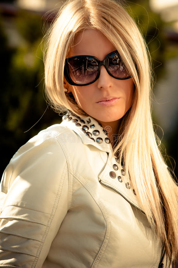 Sunglasses portrait royalty free stock photos