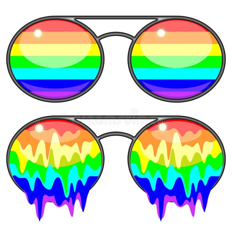 Free Sunglasses Rainbow Colors Surreal Fashion Accessories Stock Image - 103183141