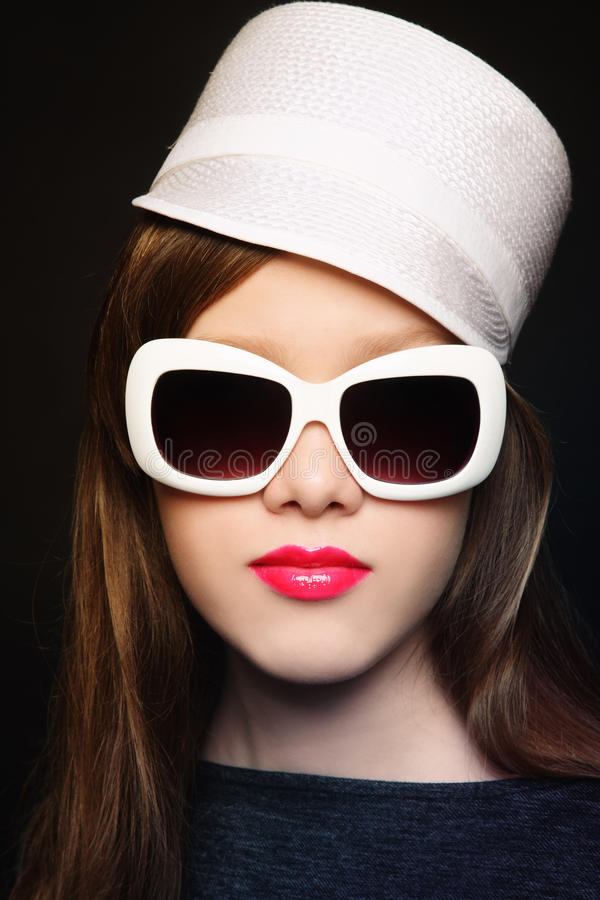 Sunglasses And Red Lip Gloss Stock Photos