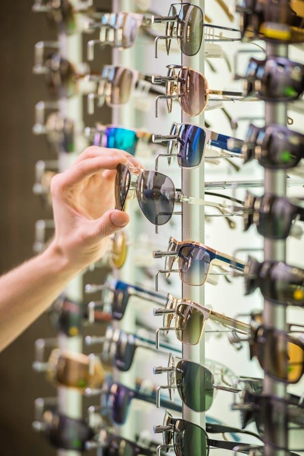 Sunglasses store royalty free stock photos