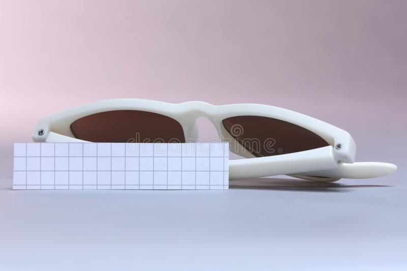Sunglasses , white background stock photos