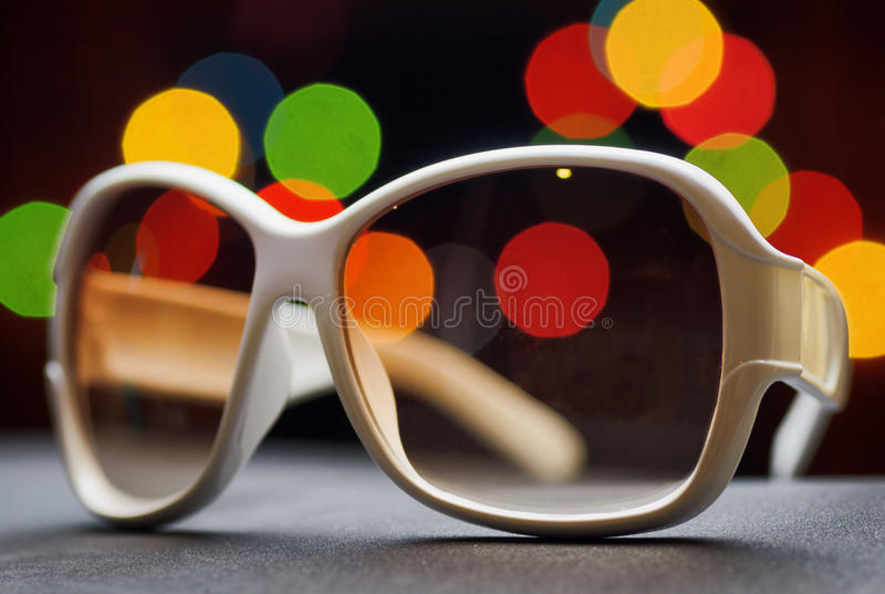 Download White plastic sunglasses stock image. Image of bokeh - 42182449