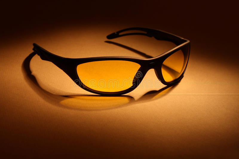 Sunglasses With Yellow Lens Royalty Free Stock Images