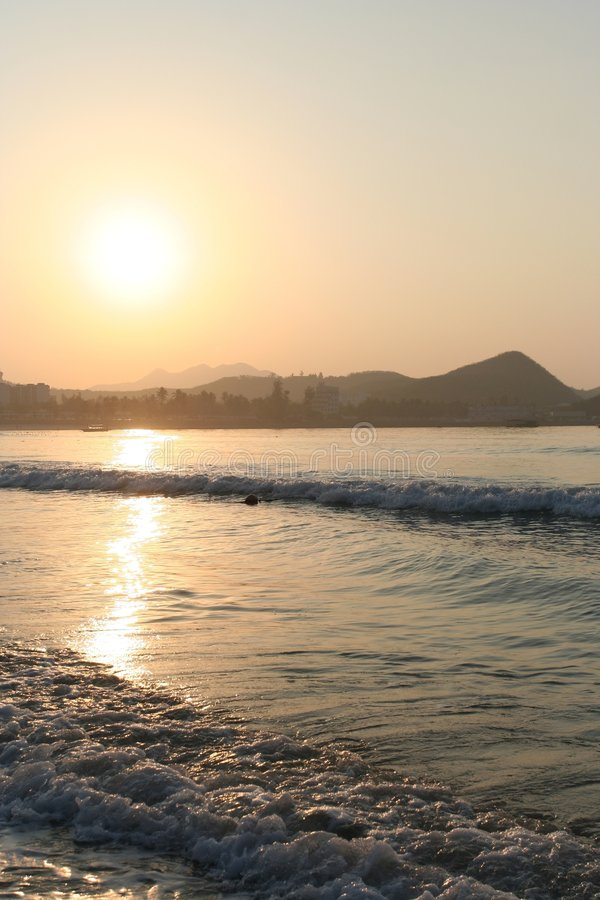 sunglow стоковое фото