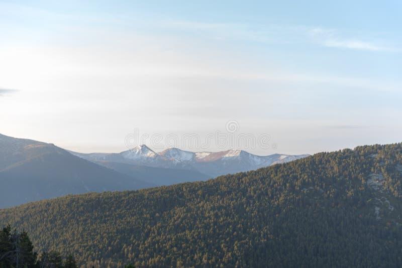 Sunhine dans Casamanya, Andorre images libres de droits