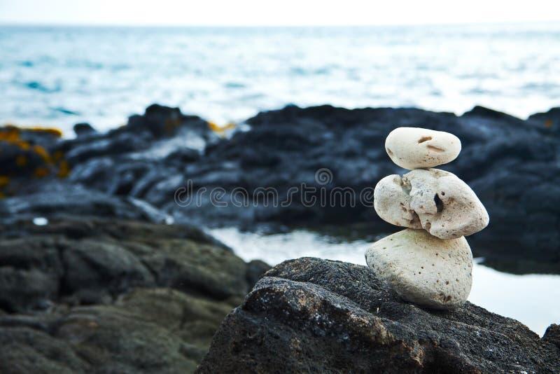 sunie koralowego hawajczyka skał biel zen zdjęcia stock