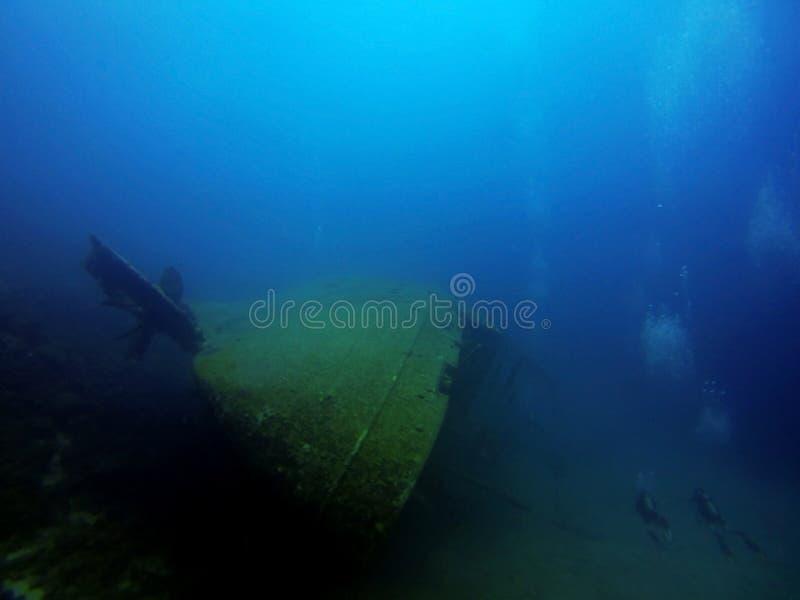 Sunken корабль стоковое фото rf