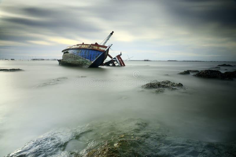 Sunken развалины стоковая фотография rf