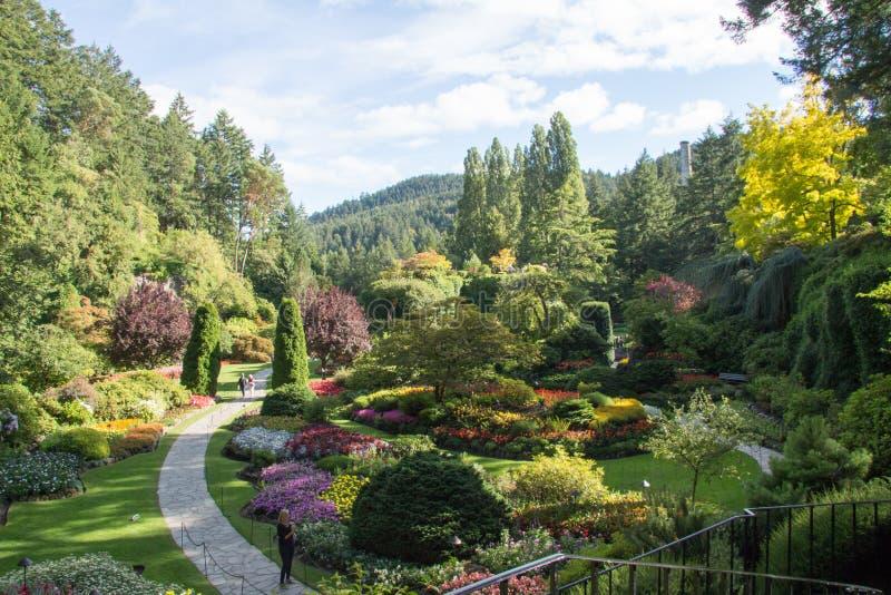 Sunken Gardens stock image