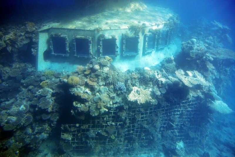 Sunken ship royalty free stock images