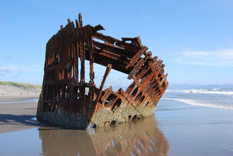 Sunken Ship stock photo