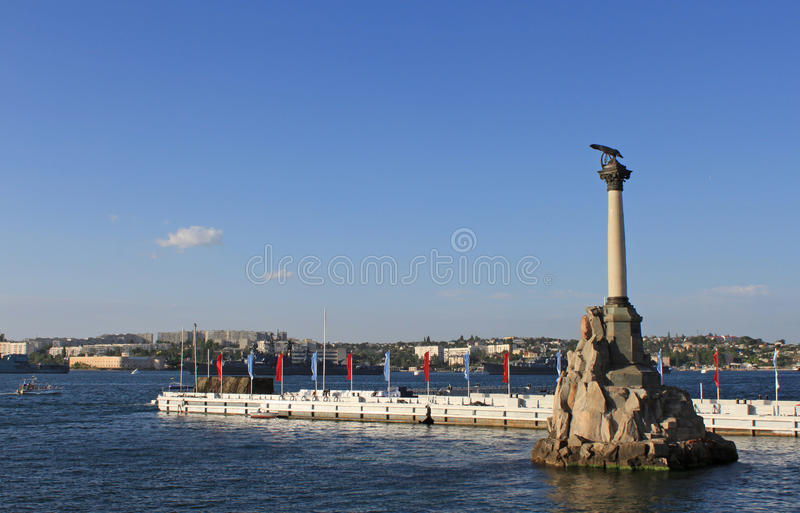Download The Sunken Ships Monument stock photo. Image of landmark - 18598076