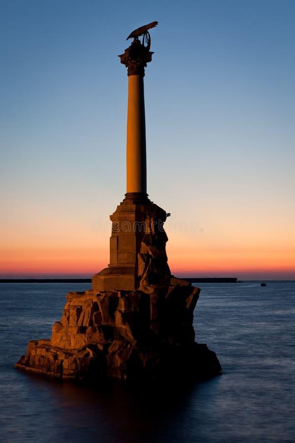 The Sunken Ships Monument in Sevastopol, Ukraine stock image