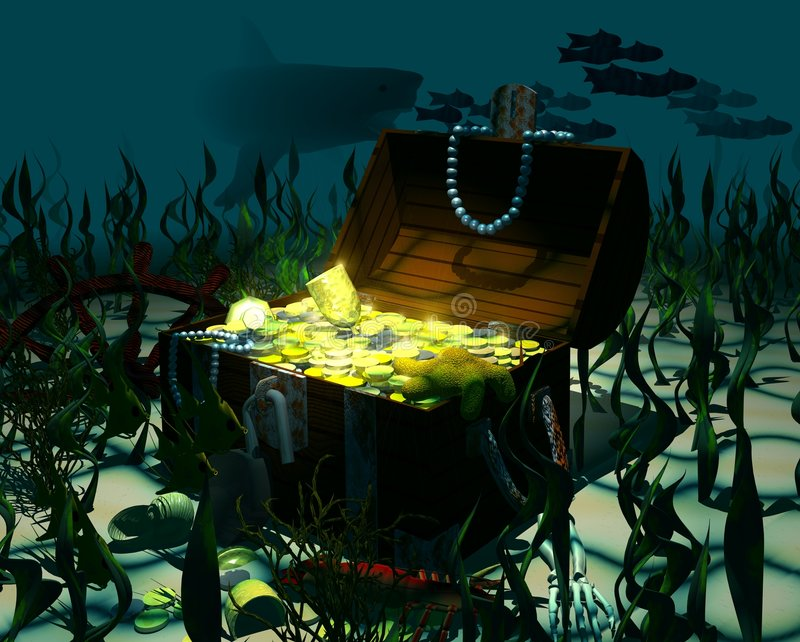 Download Sunken_treasure stock illustration. Image of chest, funds - 2301855