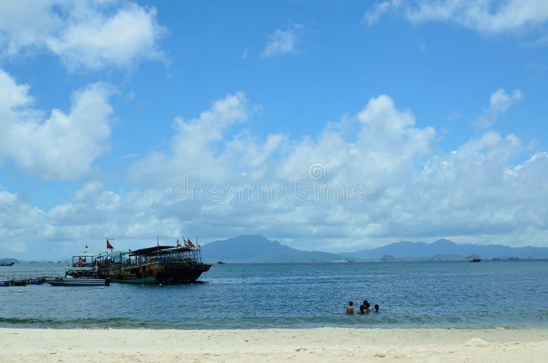 SunLiaoWan strand royaltyfria foton