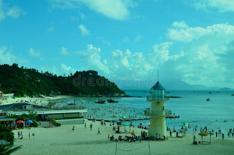 SunLiaoWan strand arkivbild