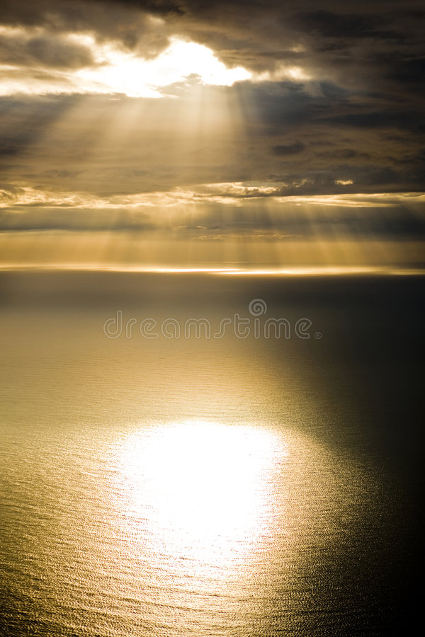 Sunlight on the atlantic royalty free stock photos