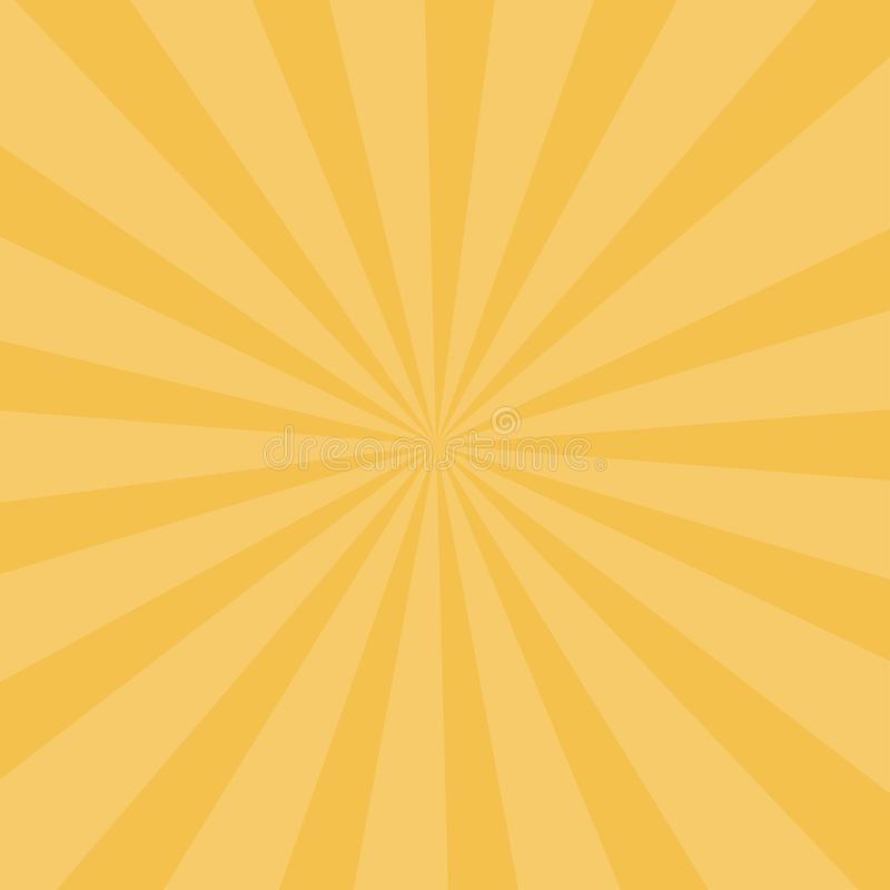 Sunlight background. Abstract sunbeams wallpaper. Retro circus bright yellow backdrop royalty free illustration