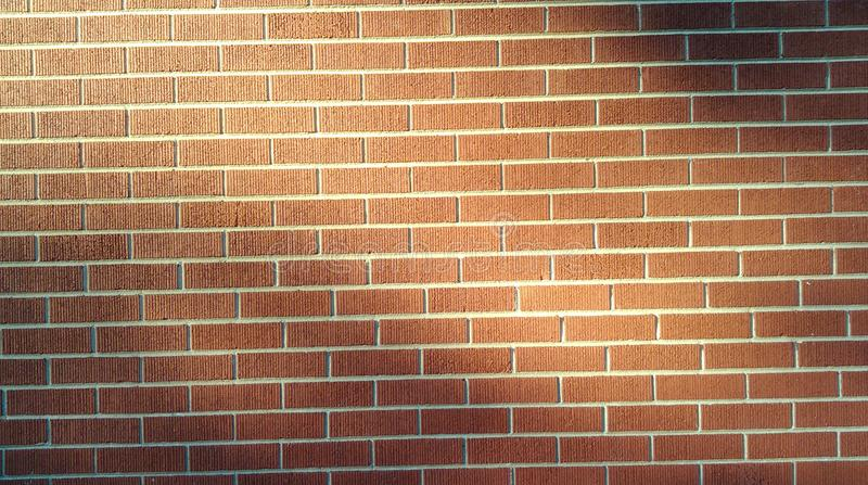 Sunlight on brickwork royalty free stock photography