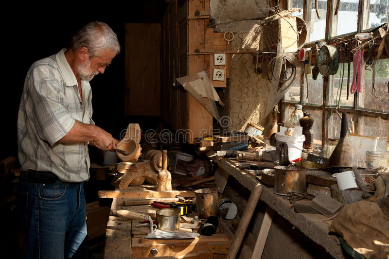 Download Sunlight in carpenter shed stock photo. Image of furniture - 27283598
