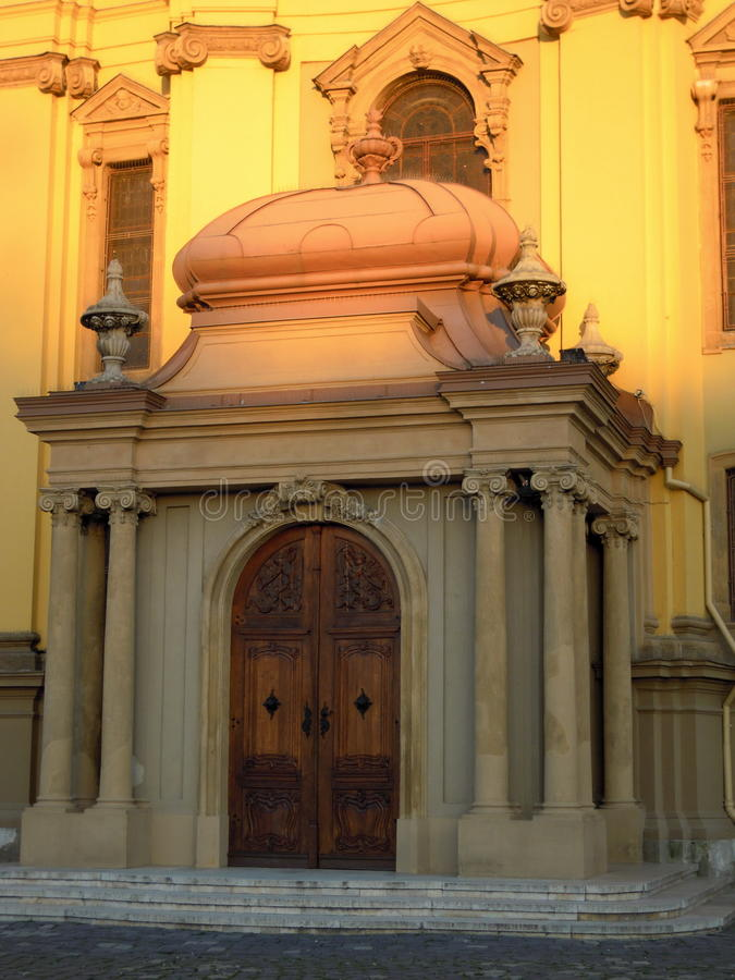 Sunlight on church stock image