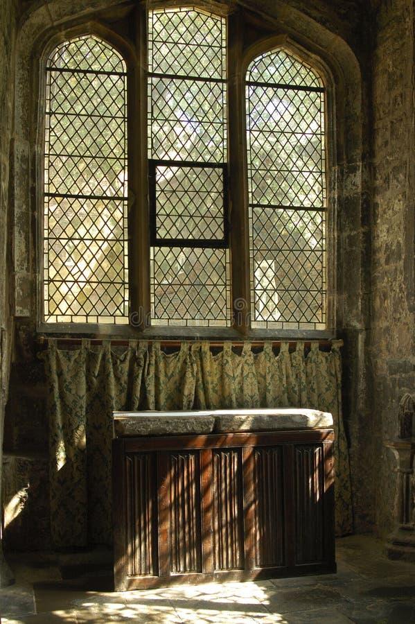 Sunlight On Linen Fold Altar York Stock Photos