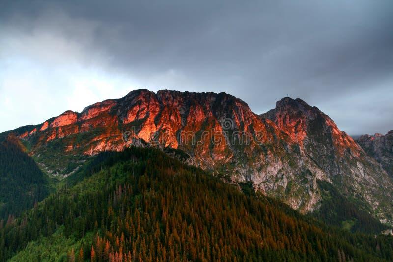 Download Sunlight on mountain stock image. Image of zakopane, orange - 6299899