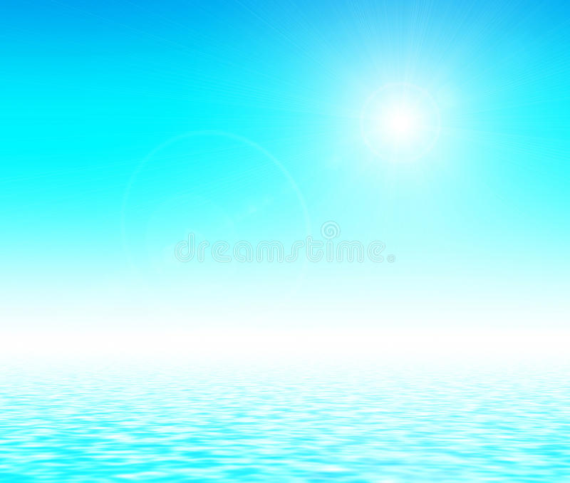 Download Sunlight Over Blue Gradient. Stock Photography - Image: 32264742