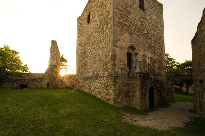 Old castle ruins sunlight royalty free stock image