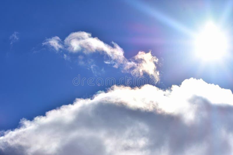 Sunlight Over A Scenic Cloudscape stock photos